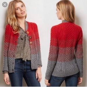 Anthropologie Sleeping on Snow Ombré Sweater Cardi